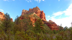 Red Rock Promontory Peak- Boynton Canyon- Sedona Arizona Stock Footage