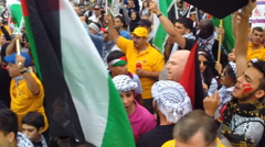 Palestinians confront Jews in Washington, D.C. - stock footage