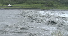 4K / HD Raging River Flood Waters After Hurricane Stock Footage