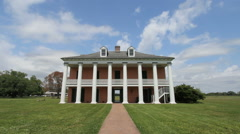 Louisiana Plantation house at Chalmette National Monument Stock Footage