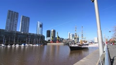 Stock Video Footage of Puerto Madero in Buenos Aires