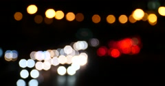 4k Shaking lighting at night,many cars on overpass,traffic jams.illusion dream. - stock footage