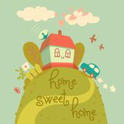 Home sweet home. Stock Illustration