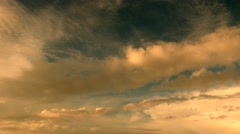 flying above the clouds. cloudy sky background. cumulus clouds - stock footage