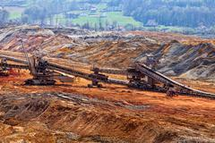 Open mining pit Stock Photos