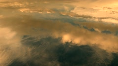 cloudy sky background. cumulus clouds. flying above the clouds - stock footage