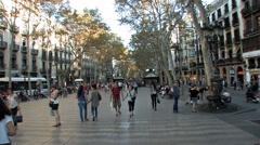 Barcelona Ramblas 1200 Stock Footage