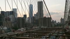 Brooklyn Bridge Timelapse Manhattan New York City NYC USA Beautiful Sunset Stock Footage