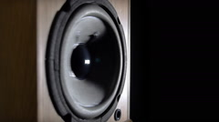 Loudspeaker playing music Stock Footage