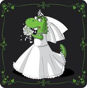 Bridezilla Vector Cartoon - stock illustration