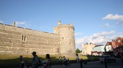 Windsor Castle view from the street Stock Footage