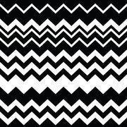 Stock Illustration of Tribal Aztec zigzag seamless black and white pattern
