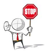 simple business people - stop - stock illustration