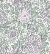Picturesque seamless pattern in soft colors Stock Illustration