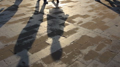 Tourists walking in temple of heaven Stock Footage