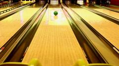 Bowling ramp Stock Footage