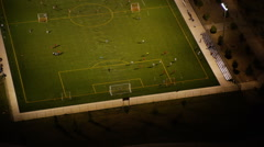 Aerial view of a soccer match Stock Footage
