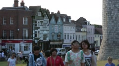 Windsor High Street in England, Europe Stock Footage