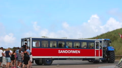 Entrance to Sandormen at Skagen Stock Footage