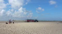 Sandormen at beach in Skagen Stock Footage