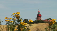 Lighthouse Bastorf, Mecklenburg Western Pomerania, Germany Stock Footage