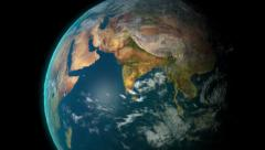 Rotating realistic earth Stock Footage