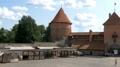 The view inside the trakai medieval castle in lithuania gh4 4k uhd Stock Footage