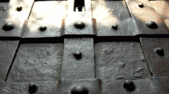 the bumpy details of the treasure chest from the castle gh4 4k uhd - stock footage