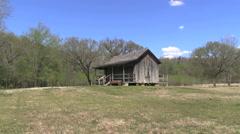 Missouri Big Spring Ozark cabin cx Stock Footage