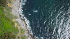 Aerial view of Californian coast Stock Footage