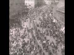 WW1 Ru 1917 Civilian Petrograz - stock footage