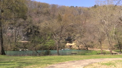 Missouri Big Spring overview cx Stock Footage
