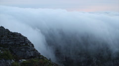 Timelaspe of the clouds in the mountains in south africa Stock Footage