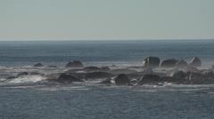 Slowmotion shot of the sea in capetown south africa Stock Footage