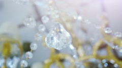 Crystal chandelier. Big classic triangle shape crystal. Stock Footage