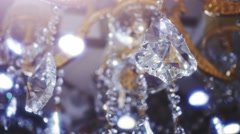 Classic triangle shape crystals. Stock Footage