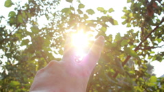 Two Fingers Raised Up Stock Footage