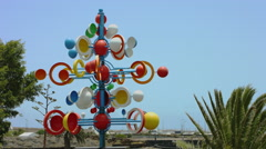 Wind sculpture, Lanzarote Stock Footage