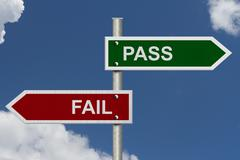 pass versus fail - stock illustration