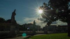 Italian statue, historical artwork, Padova, Veneto, Italy Stock Footage