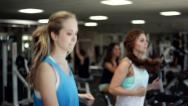 Stock Video Footage of Running on a Treadmill. Stop in the End.
