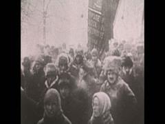 WW1 Civilian On Street Stock Footage
