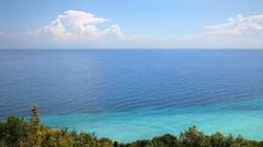 Sea and sky in Greece Olympus region Stock Footage