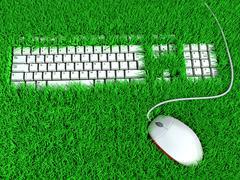 Super ergonomic keyboard. conceptual illustration Stock Illustration