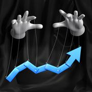 Stock Illustration of global conspiracy in the business. conceptual illustration. arrow move