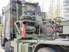 MIlitary tow truck Stock Photos