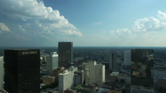 Time Lapse of the Atlanta Skyline looking South - stock footage