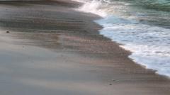 Beautiful beach detail shot Stock Footage