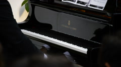 Musician playing piano Steinway Sons Stock Footage
