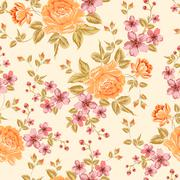 Luxurious color peony pattern. Stock Illustration